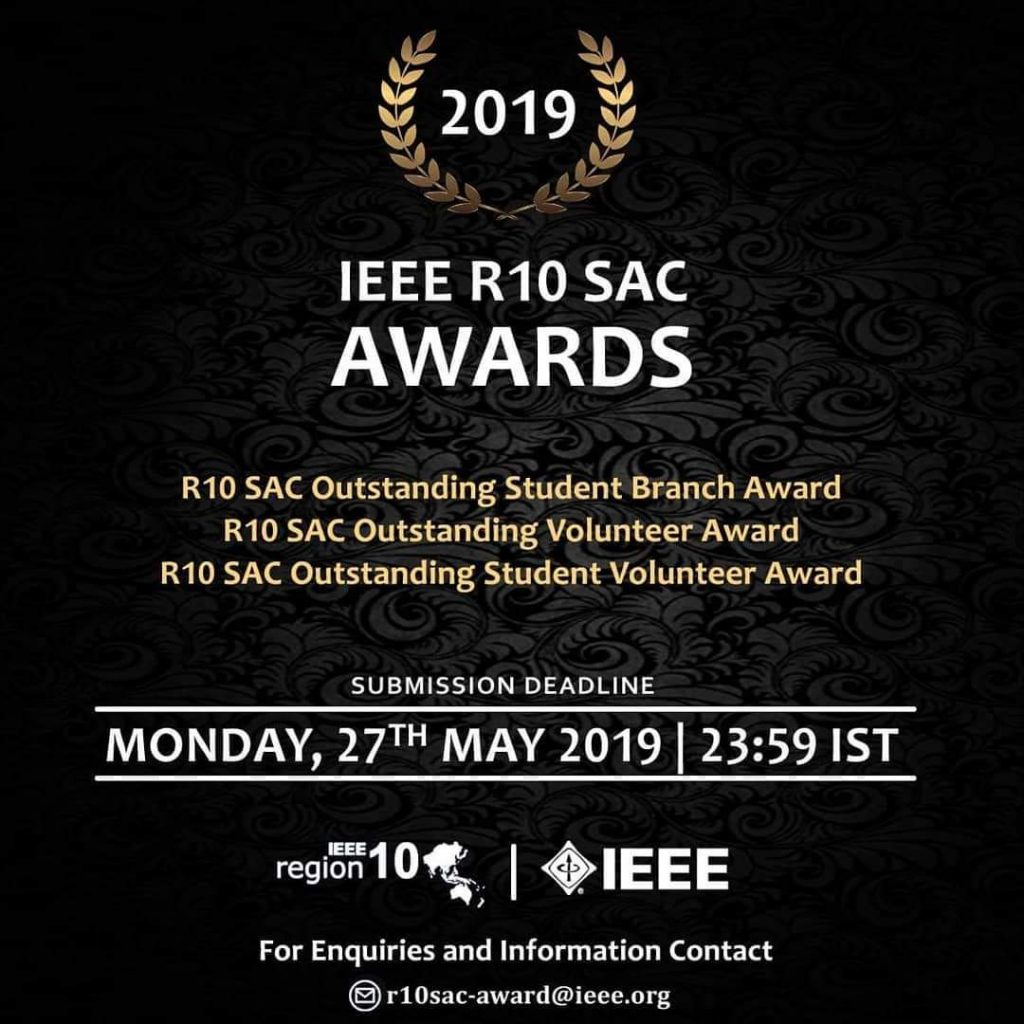 IEEE R10 SAC Awards