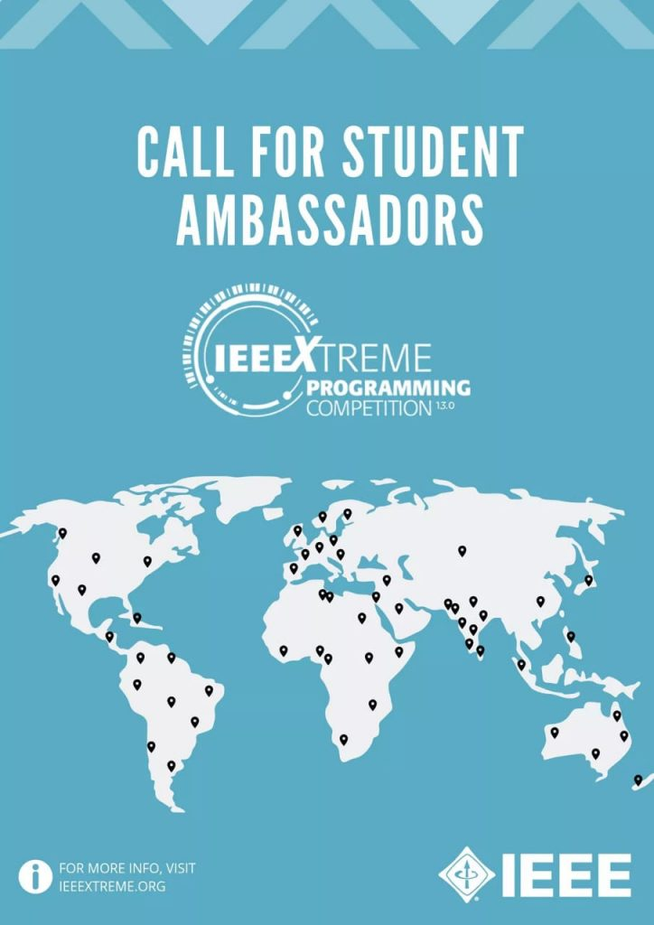 IEEE Xtreme Call for Ambassadors