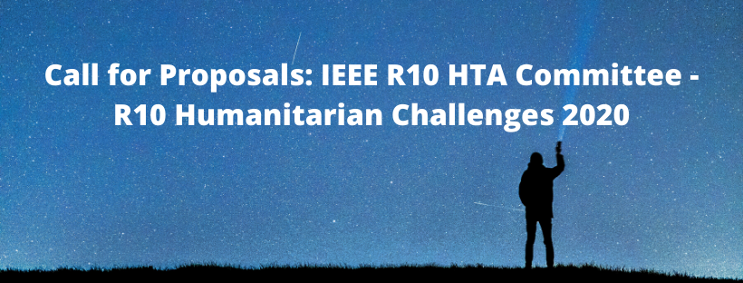 Call for Proposals_ IEEE R10 HTA Committee – R10 Humanitarian Challenges 2020
